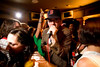 "4/29/08 Boston, MA -- Singer Duncan Pelletier leads the crowd gathered for the Tuesday Night Squabble in a rendition of ""Psycho Killer"" by the Talking Heads at Good Life Bar Tuesday April 29, 2008.  Erik Jacobs for the Boston Globe"