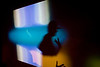4/3/08/08 Jamaica Plain, MA -- A DJ is silhouetted in lights from the dance floor at Shake 'em Down event at the Milky Way Lounge in Jamaica Plain March 3, 2008.  Erik Jacobs for the Boston Globe