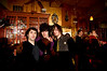 "5/16/08 Cambridge, MA -- From left, Nick Moon, Dante Dalli and ""Jonny Thunders"" pose for the camera at Mambo Beat Club at ZuZu in Cambridge, MA May 16, 2008.  The three friends met originally at Club Zuzu.  Erik Jacobs for the Boston Globe"