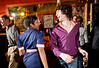 "5/16/08 Cambridge, MA -- Lis Owuor of Boston dressed as ""a hot stewardess circa 1969"" dances with Dante Dalli during Mambo Beat Club at ZuZu in Cambridge, MA May 16, 2008.  Erik Jacobs for the Boston Globe"