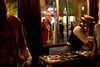 5/16/08 Cambridge, MA -- A pedestrian along Massachusetts Ave. pokes his head in the window and checks out the sceen at Mambo Beat Club at ZuZu in Cambridge, MA May 16, 2008.  Erik Jacobs for the Boston Globe