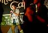 "7/24/08 Jamaica Plain, MA -- Geri Hopkins of Jamaica Plain entertains the crowd by singing ""Devil with the Blue Dress"" during Queeraoke at the Midway Cafe in Jamaica Plain July 24, 2008.  ""This is my favorite scene in town,"" Hopkins said.  ""It doesn't matter if you're good or you suck, it is a very loving atmosphere.""  Erik Jacobs for the Boston Globe"