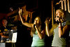 7/24/08 Jamaica Plain, MA -- Lauren Block (left) of Sharon sings with Lauren Taylor of Brookline at Queeraoke at the Midway Cafe in Jamaica Plain July 24, 2008.  Erik Jacobs for the Boston Globe