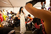 "5/7/11 Boston, MA -- Amber Lu models a piece from Natasha Javeri's Indian bridal inspired collection called ""Ishq"" (which stands for love in Hindi) backstage at Voltage 2011, Massachusetts College of Art and Design senior fashion show May 7, 2011.  Erik Jacobs for the Boston Globe"
