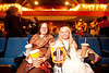 """3/7/10 Cambridge, MA -- From left, Mary Lou Shields of Arlington and Donnah Canavan of Brighton hold down the same two front row seats they claimed last year at the Brattle Theatre's 10th Anniversary Oscar Party March 7, 2010.  """"We love movies,"""" Shields said.  """"We see all the movies."""" Erik Jacobs for the Boston Globe"""