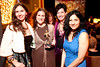 """3/7/10 Cambridge, MA -- New Brattle members, from left, Eileen Marmora, Robin Shepard, Bernadette Ridge and Magina Malguria pose with """"Oscar"""" at the Brattle Theatre's 10th Anniversary Oscar Party March 7, 2010. Erik Jacobs for the Boston Globe"""