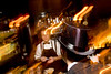 """12/4/08 Boston, MA -- Bill Hendriksen of Brighton celebrates the 75th Anniversary of the Repeal of Prohibition at the roaring 20's party at Eastern Standard in Boston December 4, 2008.  Dressed in his friends top hat and pin stripes Hendriksen was ordering  a """"Frisco"""" one of the prohibition-themed drinks. Erik Jacobs for the Boston Globe"""