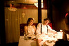 """12/4/08 Boston, MA -- Katie and Darryl Ricard of Ashland sit for a six-course meal at the roaring 20's party at Eastern Standard in Boston December 4, 2008.  """"We used to go here as undergrads,"""" Katie said remember their time at Boston University.  """"Now I'm a history teacher so I think this is fun.""""  Erik Jacobs for the Boston Globe"""