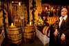12/4/08 Boston, MA -- To transform Eastern Standard into a Speakeasy, Oak barrels block the restaurant's main entrance where party-goers were celebrating the 75th Anniversary of the Repeal of Prohibition December 4, 2008.  Erik Jacobs for the Boston Globe