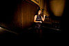 12/4/08 Boston, MA -- Allison Mansueto, a hostess at Eastern Standard, keeps an eye on party-goers celebrating the 75th Anniversary of the Repeal of Prohibition at the roaring 20's party at Eastern Standard in Boston December 4, 2008.  Erik Jacobs for the Boston Globe