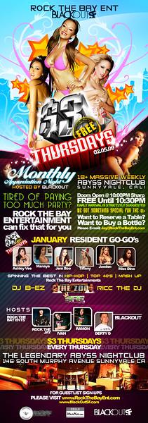$3 Thursdays @ Abyss - 02.05.09