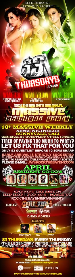 $3 Thursdays @ Abyss - 4.30.09