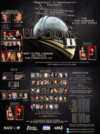 Blackout SF 2 Year @ Mist - 5.21.10