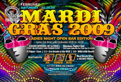 Mardi Gras @ Illusions - 02.28.09