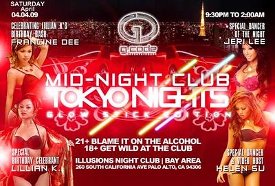 Mid-Night Club: Tokyo Nights @ Illusions - 4.5.09