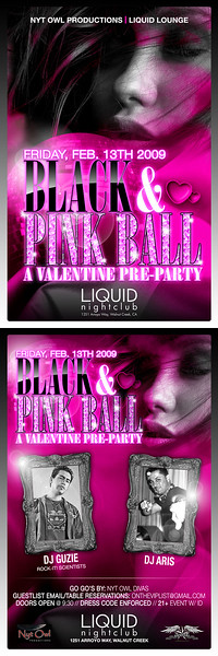 Black & Pink Ball @ Liquid - 02.13.09