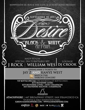 Desire @ Atmosphere - Sat 9/10/11
