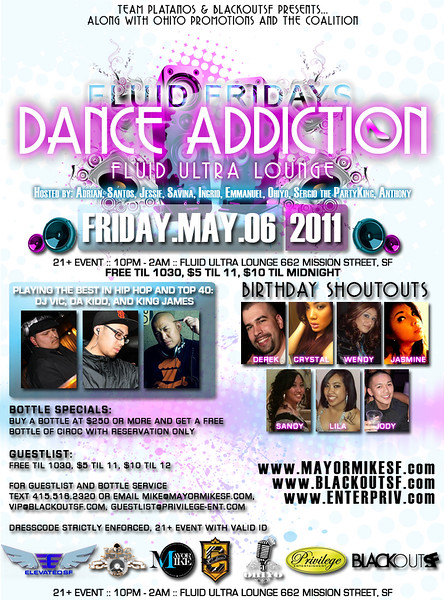 Fluid Fridays: Dance Addiction @ Fluid - Fri 5.6.11