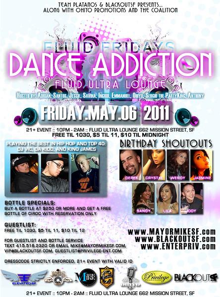 Fluid Fridays: Dance Addiction @ Fluid - Fri 5.6.11