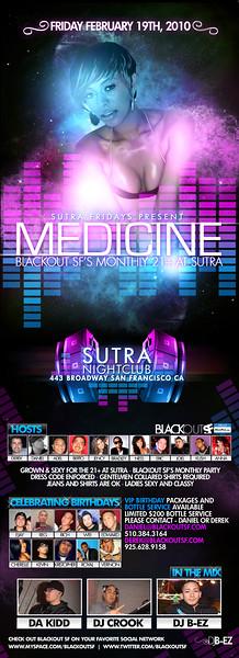 Medicine @ Sutra - 2.19.10