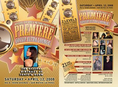 the Premiere @ Gossip -- 4/12/08 [21+]