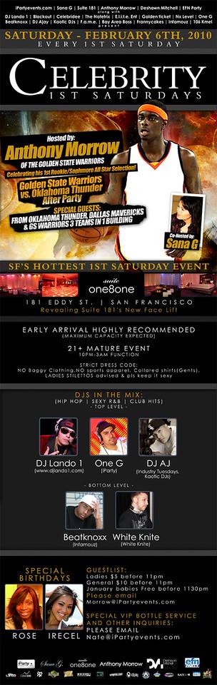 Celebrity Saturdays @ Suite 181 - 2.6.10