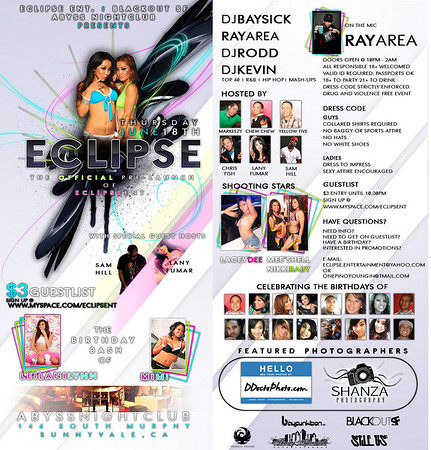 Eclipse Ent Pre Launch @ Abyss - 6.18.09