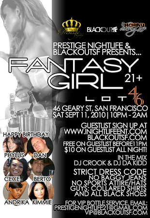 Fantasy Girl @ Lot 46 - 9.11.10