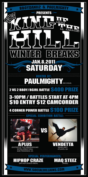 1/8 [King of the hill winter breaks @MH centennial recreation center]