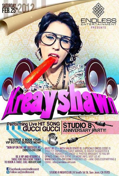 2/25 [Kreayshawn Live@Studio 8]