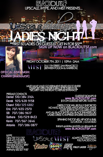 Ladies Night @ Mist - Fri 10.7.11