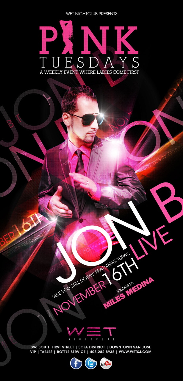 11/16 [PInk Tuesdays@WET w/ JON B]