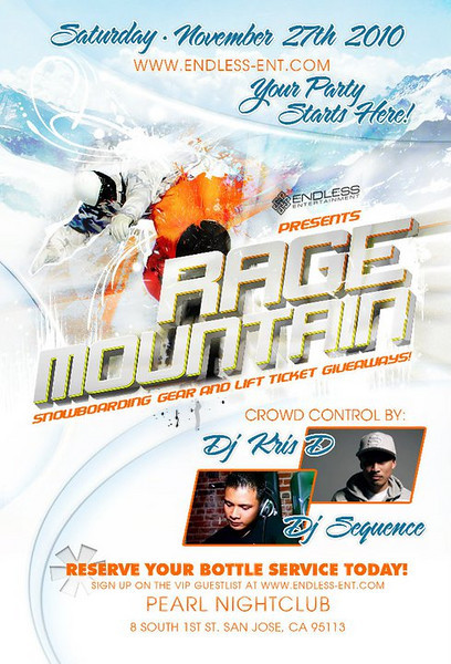 11/27 [Rage Mountain@Pearl]