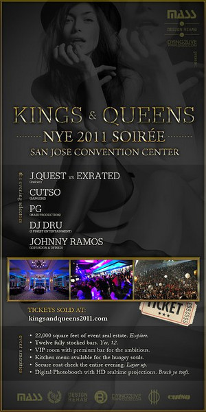 12/31 [Kings & Queens NYE 2011@SJ CONVENTION CENTER]