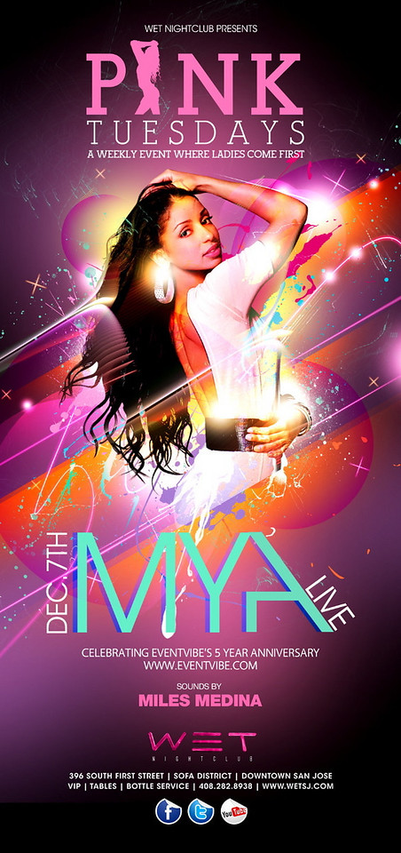 12/7 [Pink Tuesdays@WET w/ Mya]