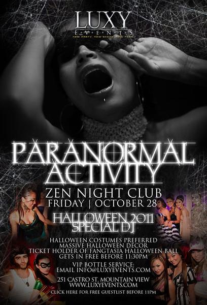 10/28 [Paranormal Activity@Zen]