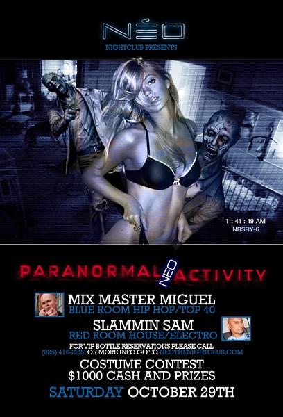 10/29 [Paranormal NEO activity@NEO]