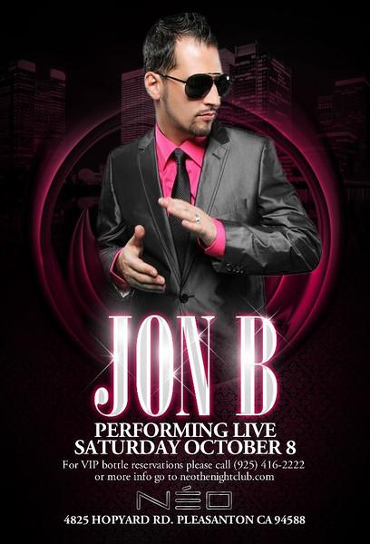 10/8 [Jon B Live@Neo]