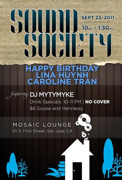 9/23 [Sound society@Mosiac]
