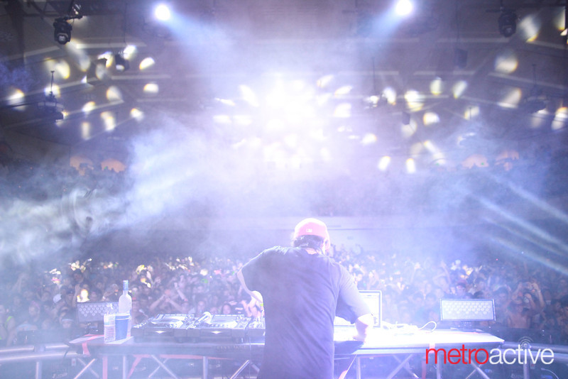 Datsik behind the decks @ Sunrise 2013.  Images by: CJ