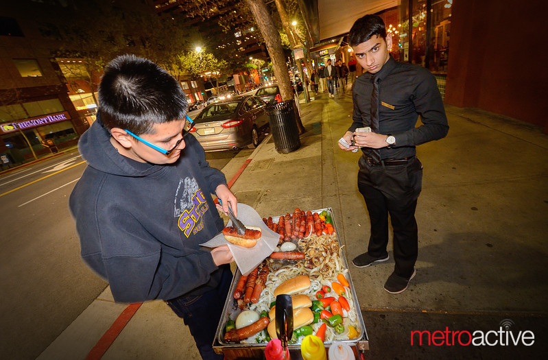 Street vendor at the head of San Pedro Square