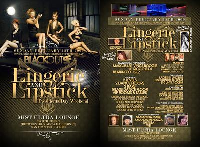 Lingerie & Lipstick @ Mist - 02.15.09