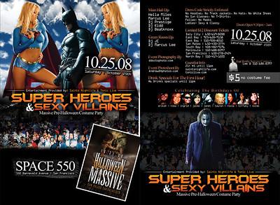 Super Heroes & Villains @ Space 550 - 10/25/08