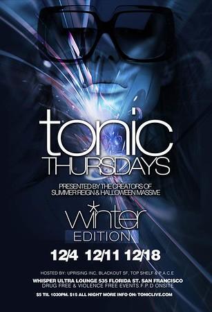 Tonic Thursdays @ Whisper - 12.4.08
