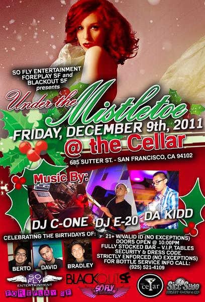 Under the Mistletoe @ The Cellar - 12/9/11