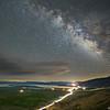 Made from 20 light frames by Starry Landscape Stacker 1.8.0.  Algorithm: Min Horizon Noise
