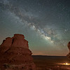 Made from 12 light frames (captured with a NIKON CORPORATION camera) by Starry Landscape Stacker 1.6.1.  Algorithm: Median