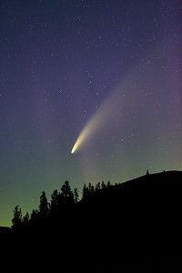 Comet Neowise and Lady Aurora