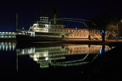 SS Sicamous At NIght