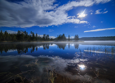Ellis Reservoir Misty Moonlight 2016